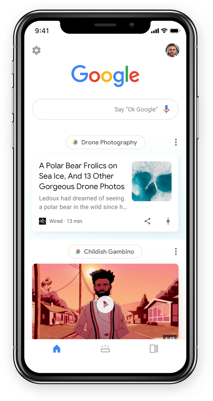 تصاویر در ورژن جدید google discover