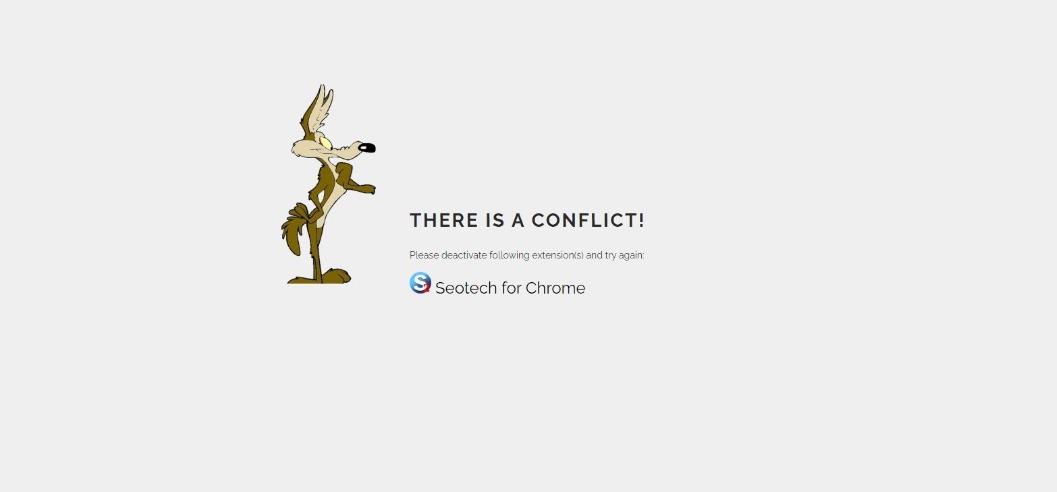 Conflict seo account