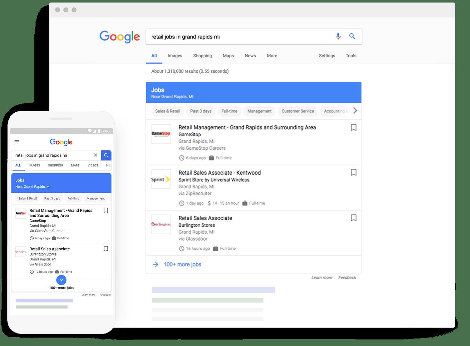 job posting in google - نحوه نمایش آگهی های شغلی در نتایج جستجو گوگل